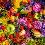 Цветочные фруктовые