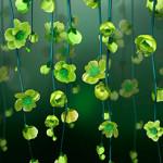 Цветочные зеленые